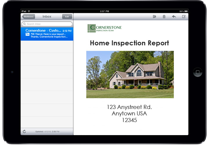 Electronic inspection reports